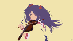 Kotomi Ichinose (Clannad) Minimalist Wallpaper by greenmapple17