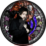 Tim Burton Stained Glass by Werewolf-Pirate