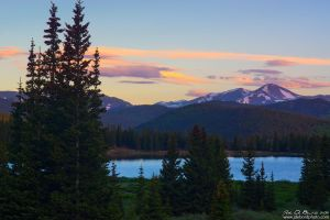 Sunrise Over Echo Lake by kkart