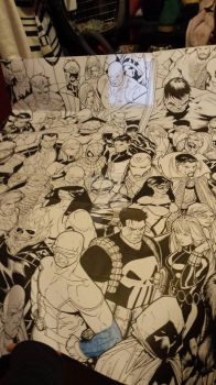 Marvel coloriage by TheCaptainsGirl