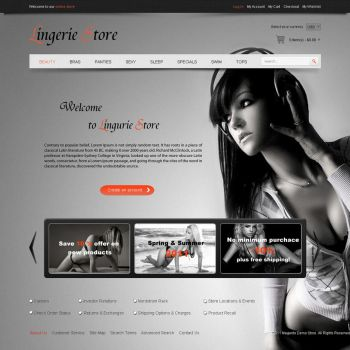 Ecommerce lingerie shop template by loftytemplates