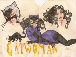 OLD Catwoman drawing by aichan25