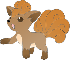 Vulpix :Colored by kawaiipikachu12