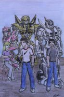 Humans and their guardians by GUILLERMOTFMASTER