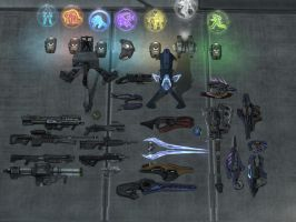 halo reach: weapons by purpledragon104