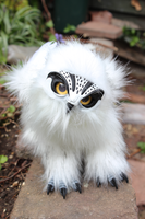 Snowy Owl Griffin artdoll 2 by Creature-Cave