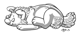 Free Sleeping Chibi .png by Atani1