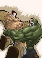 Balto vs. Hulk by MeaT-Artworx