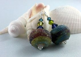 Sugared Jewel Earrings by michelleaudette