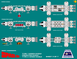 Gerry Andersons Space 1999 Eagle Transporter 3 of  by ArthurTwosheds