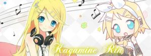 Kagamine Rin Bacground Facebook by funyan-lineart