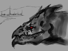 Dragon Concept WIP by Lonewolf898