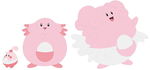 Happiny, Chansey and Blissey Base by SelenaEde