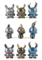 Dunny Knights | Set 1 by liadys