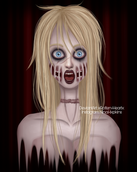 Portait  ~ Ashley the Infected by xRotten-Heartx
