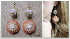 "Earrings ""Infanta's bouquet"" by vasoiko"