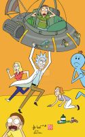 Rick and Morty by howardshum
