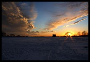 Snow Sunset III by ali-musette