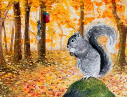 Delmarva Fox Squirrel by Turquoise-Cherry