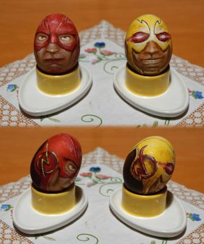 Arrowverse Easter Eggs - Flash + Reverse Flash by RedBlupi