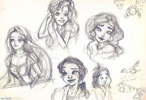Disney doodles 02.18.11 by alicexz