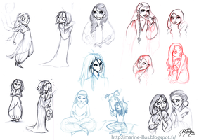 Some roughs by MarineElphie