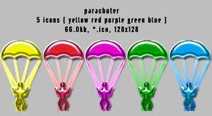 parachuter 128x128 5icons by gr8koogly