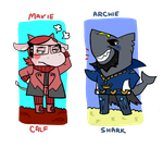 Animal Crossing: Maxie and Archie by Fingurken