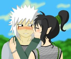 Jiraya and Mei - A flower for a kiss by BloodyRiley