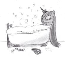 Luna's Bubble Bath by DrChrisman