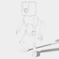 [WIP step #2] Robot concept art by lithium-sound