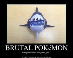 Sharpedo the brutal papercraft by ninjatoespapercraft