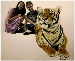 Couple and a Tiger by Bonniemarie