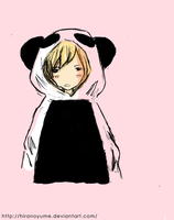 Ruki The Panda (colored) by HiranoYume