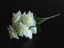 White Roses-black bg_stock by Imm0rtal-St0ck