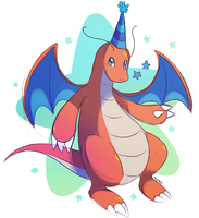 Birthday Dragonite by monomite