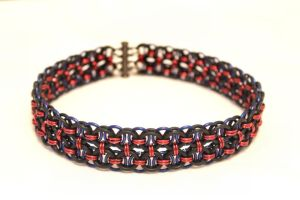 Double Helm Choker - Red, Black, Blue by SerenFey
