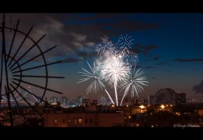 Astoria Park Fireworks by Tomoji-ized