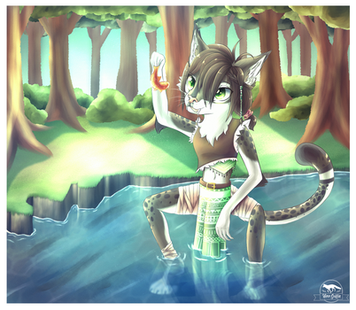 :COMM: Fishing by HimeGriffin
