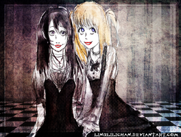 naomi and misa by Llingy