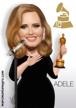Adele Caricature by MMCilustration
