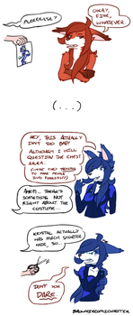 Ursula Cosplays as a Furry Icon: Krystal by BrownieComicWriter