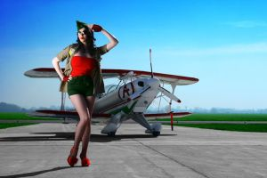 Pin Up Aviator Girl v.4 by hollowone