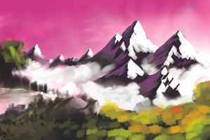 Bob Ross Mountain by theCheeseGrater