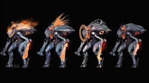 Promethean Knight variants by Lopez-The-Heavy