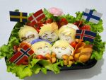 Hetalia Bento: The Nordics by luzzy
