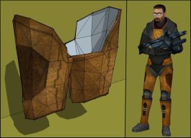 HEV Thigh Armor Papercraft by Tektonten