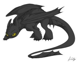 Toothless by xkyana13