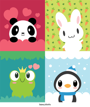 Cute Illustrations by Daieny