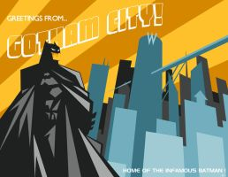 Greetings from Gotham City by ninjaink